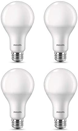 Philips LED 558221 A21 Frosted Flicker Free High Lumen Light Bulb with EyeComfort Technology product image