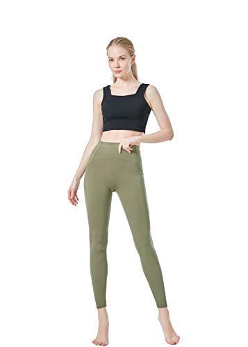 JOPHY & CO. Damen-Leggings, lang, bi-elastisch, aus Push-Up-Gewebe (Artikelnummer: 9815), Grün L