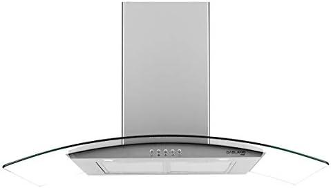 36 Range Hood GASLAND Chef GR36SP Curved Glass Stainless Steel Wall Mount Range Hood 3 Speed product image