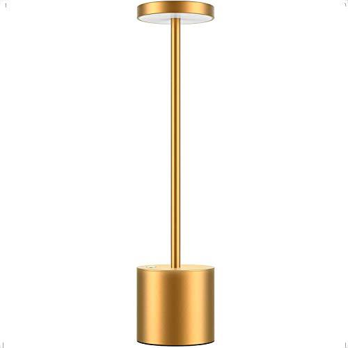 Cordless LED Table Lamp, Portable USB Rechargeable Battery Energy-Saving Desk Lamp, 2-Levels...