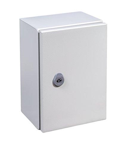 IDE GN252015 Armarios Puerta Opaca con Placa, Gris, 250mm x 200mm x 150mm