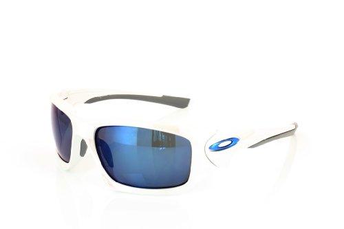 Oakley - Gafas de sol, Blanco Cromado/Ice iridio Polarizada