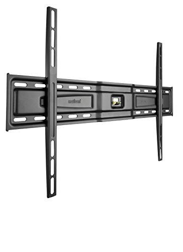 Meliconi SlimStyle 600 S, Supporto Fisso Ultra Sottile da Parete per Tv a Schermo Piatto da 50'' a 80'', VESA 600x400, 400x400, Nero