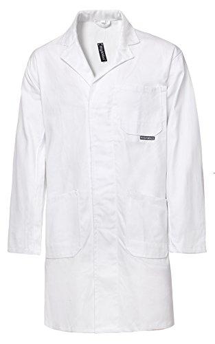 HighMax Kittel Mantel Berufsmantel Arbeitsmantel 100% Baumwolle 280G Weiß Maler Labor Food Lebensmittel (58)