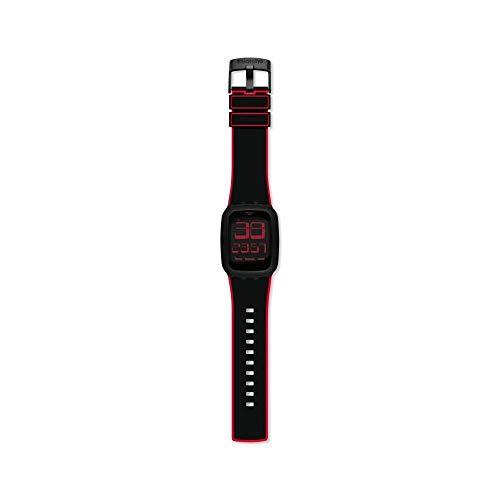 Swatch Unisex– Erwachsene Digital Touchscreen Uhr mit Silicone Armband SURB102E