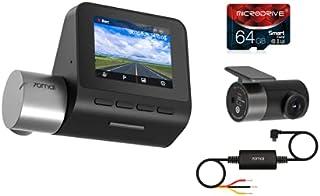 Kit Completo 70mai A500S + Câmera de Ré + Cabo Hardware Kit + 64GB Dash Cam Pro Plus Rear set
