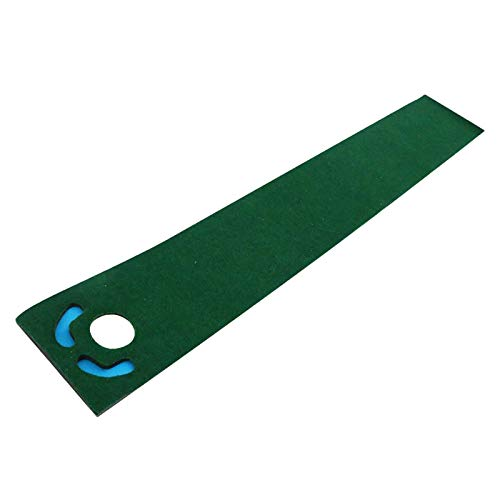 Perfeclan Golf Putting Mat Golf Practice Carpet Green with Hole Chipping Training Aid