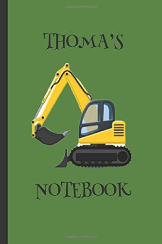 Thoma's  Notebook: Boys Gifts : Big Yellow Digger Journal