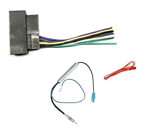 No Factory Premium Amp Car Stereo Radio Wire Harness and Antenna Adapter Combo to Install an Aftermarket Radio for select 2013 Chrysler Dodge Jeep Ram Vehicles See compatible vehicles below