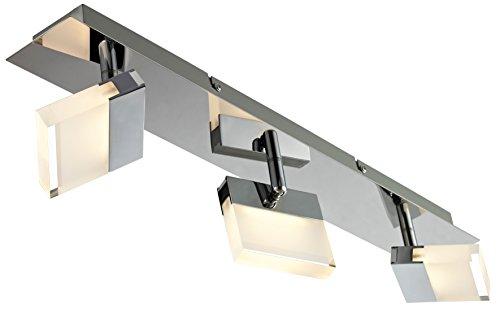 ESTO Lighting 762002-3 A+, Spotleuchte, Metall, 13.5 W, Chromfarbig/Klar/Weiß, 10 x 55 x 10 cm