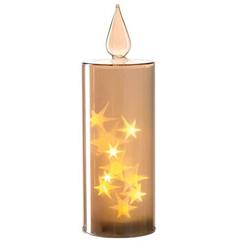 Leonardo - LED Kerze - Kerze mit Lichterkette - Weihnachtsdekoration - Maße (ØxH): 9,5 x 29 cm