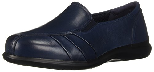 Aravon Women's Faith Loafer Flat, Blue, 6.5 Wide