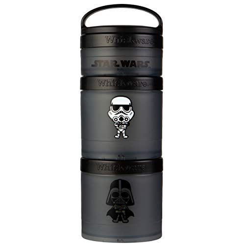 Whiskware Pacote de lanches empilháveis Star Wars, 2 1/3 xícaras, Darth Vader e Storm Trooper