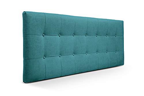 SUENOSZZZ-ESPECIALISTAS DEL DESCANSO Cabeceros de Cama 135 cm. Cabezales de Cama Acolchado Zurich. Cabezal tapizado ACUALINE limpiafacil. Cabeceros de Cama Matrimonio. Color Azul Turquesa