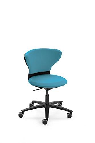 Sedus turn around Drehstuhl, Bürostuhl, Designstuhl, Schreibtischstuhl, Kinderstuhl Blau 74 x 56.5 x 94 cm