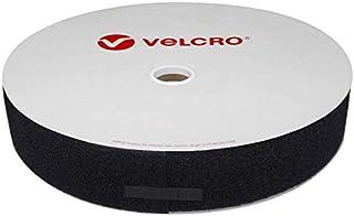Partie Femelle du Scratch Velours Velcro Bobine de Ruban /à Coudre 50mm x 25m Noir