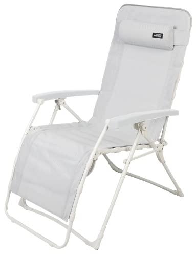 WESTFIELD® Relaxliege XL hellgrau Textil belastbar bis 140kg