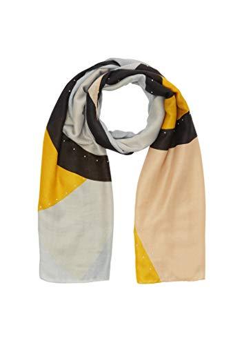 s.Oliver Damen 201.10.009.25.277.2042176 Winter-Schal, Light Grey Placed Print, 1