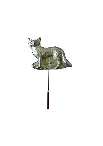 Fox In The Grass 4x3.3cm gt246 Engels Tinnen op een stropdas stok muts sjaal kraag geplaatst door ons geschenken voor alle 2016 van DERBYSHIRE UK
