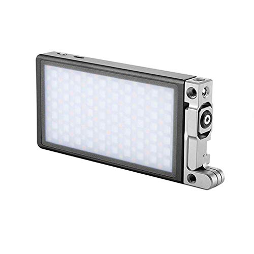 Boling BL-P1 12W RGB Eingebauter Akku Led auf Kamera-Videoleuchte Pocket Size Bi-Color 2500K-8500K 0-360°Full Color & Color Saturation Adjustment Led Foto Licht Aluminum Light Body MEHRWEG