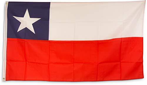 SCAMODA Bundes- und Länderflagge aus wetterfestem Material mit Metallösen (Chile) 150x90cm