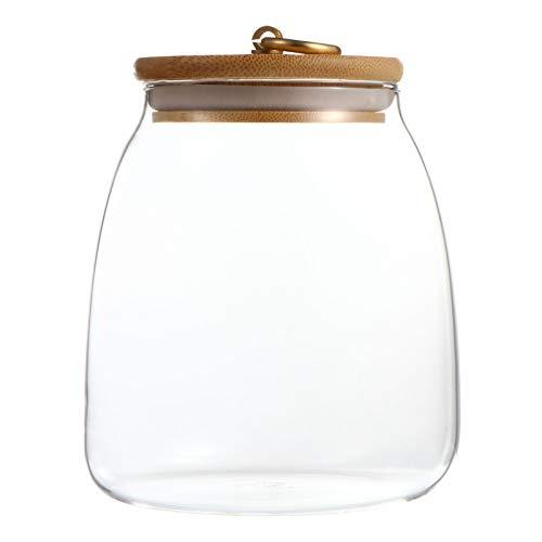 Hemoton Tarro de cristal con cierre hermético con tapa transparente para caramelos,...