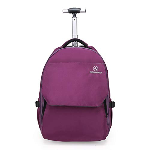 WEISHENGDA Rucksack Trolley Rolling Rucksack Schultasche 19 Zoll für Kinder,Schüler und Studenten mit viel Stauraum für Reisen, Schule und Ausflüge