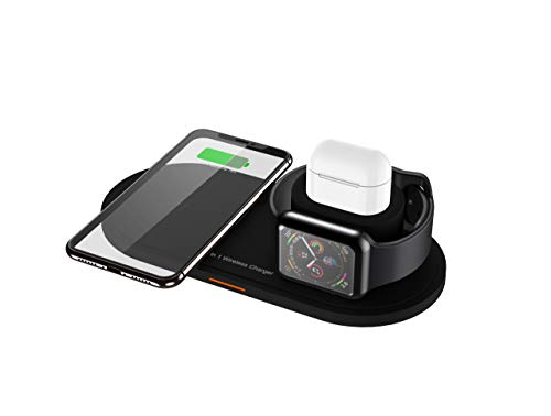 3 in 1 Wireless Charging Station Apple Watch Airpods 2 pro Qi Fast Wireless Charger Dock Stand for iPhone 11 pro Max Xs XS Max XR X 8 8P USB Charger ipad Apple Watch Samsung Wireless Charger