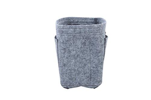 [リベルディ]フェルトバッグインバッグインナーバッグ軽量高級バッグ専用(M,グレー)