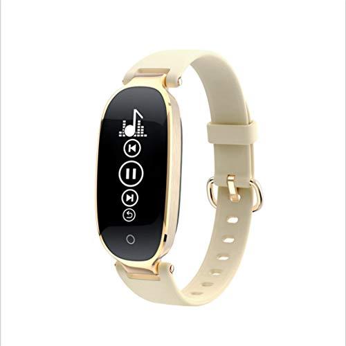 apoiuytrewq Gesunde Gelbe Intelligente Herzfrequenzschlafüberwachung Bluetooth-Schrittzähler-Multifunktionsuhr des Sportarmbandes Weibliche