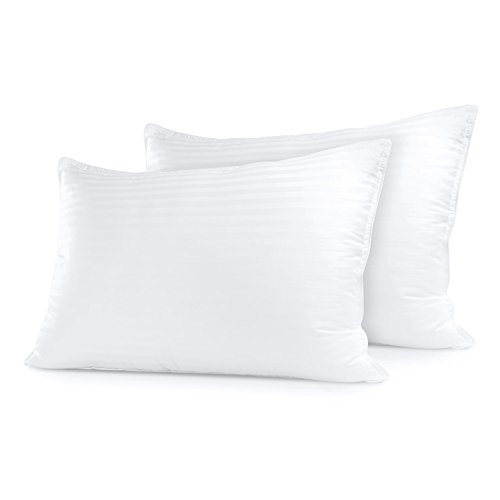 Sleep Restoration Gel Pillow - (2 Pack Queen) Best Hotel Quality Comfortable & Plush Cooling Gel Fiber Filled Pillow