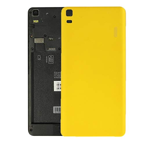 GGQQ YGNT AYDD para Lenovo K3 Note / K50-T5 / A7000 Turbo Battery Cover (Negro) (Color : Yellow)