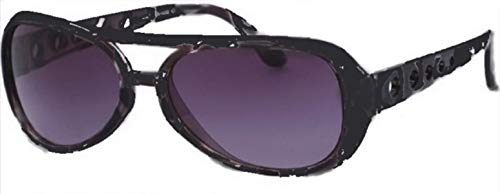 Chic-Net Occhiali da Sole Unisex Occhiali Scuri Tinti UV 400 Punti Perforati Nero