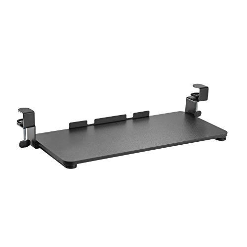 Zolda Bandeja para Teclado Ampliación ergonómico para Ajustar el Teclado y el ratón. Fácil de Instalar. La Bandeja para Teclado es Compatible con la mayoría de los escritorios y de Las mesas (Negro)