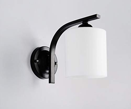 FREEDL Lámpara De Pared Interior Moderna E27, Simple Foco De Pared Con Pantalla De Vidrio Lámpara De Noche Creativa Iluminación Nocturna Habitación Del Niño Pasillo Dormitorio Salon