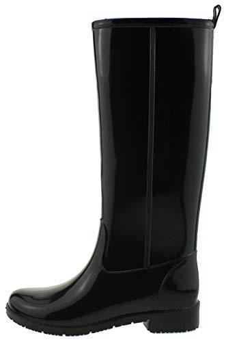 Favolla Damen Ribot Gummistiefel, schwarz/grau, 37 EU