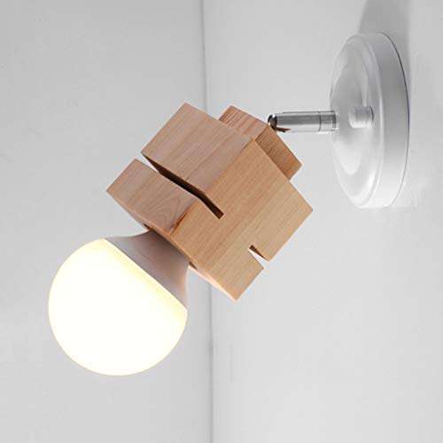GaLon Moderne wandlamp Minimalist van massief hout/plafondlamp, Art Deco Plafond, lichtbron, E27, Bar/Ristor/Deur/Illu