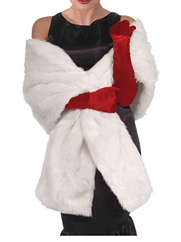 White Faux Fur Shawl Cruella Coat Costume White Faux Fur Coat White Stole