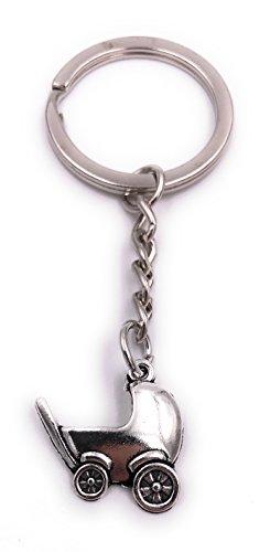 H-Customs Baby Kinderwagen Baby Sleutelhanger Hanger Zilver metaal