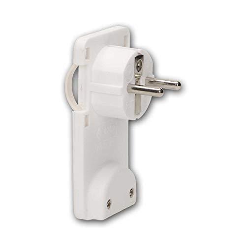 world-trading-net - Clavija de contacto de protección WTN-FlatPlug, extraplana, blanca