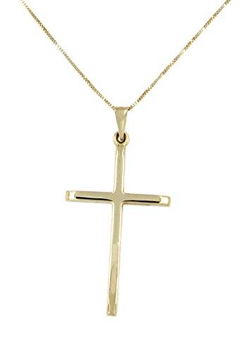 Lucchetta - Kreuzanhänger Gold Kette Damen mit Kruzifix gold 585 Anhänger