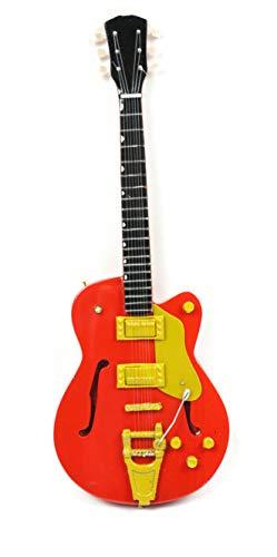 Guitarra en miniatura decorativa de guitarra Gibson, 24 cm, color rojo #185