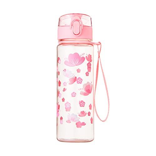 500 ml Wasserflasche, direktes Trinken, ein Schlüssel, offenes Teefach, auslaufsicher, BPA-frei, Wasserflasche für Outdoor-Trinkflasche