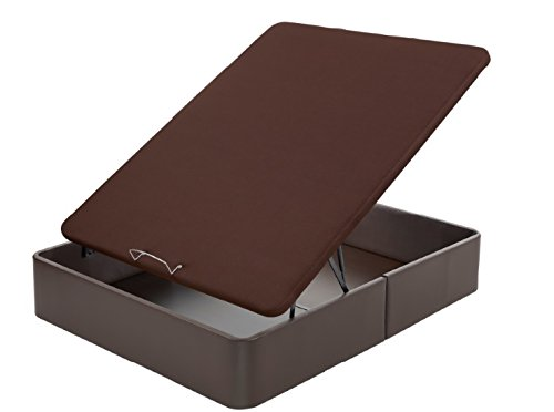 FLEX - Canapé Abatible Gran Capacidad Tapizado Polipiel Tapa 3D - 180X200, Color Marron
