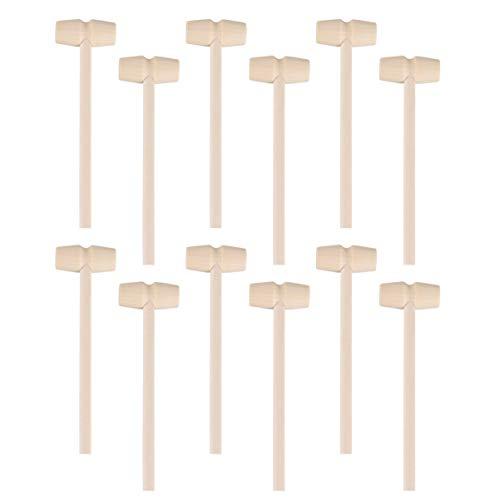 STOBOK 12 Stück Mini Holzhammer Schlägel Schlägel Hämmer für Schokolade Zerbrechliches Herz ( Stil 1 )