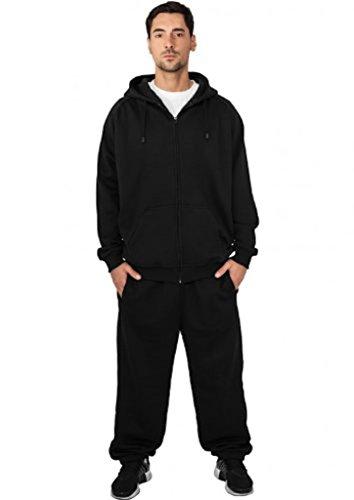 Urban Classics Jogginganzug Suit Sweatsuit Trainingsanzug blanko Blank schwarz grau dunkelgrau charcoal S bis 5XL Farben Männer Herren Sportanzug Fitness Tanzanzug Dance (XXL, schwarz)