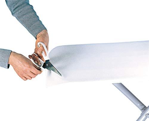 Leifheit strijkplankbekleding van 5 mm dik molton, strijkonderlegger voor gemakkelijk en afdrukvrij strijken, bekledingsstof in universele maat