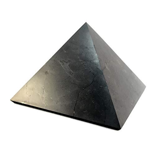 Pirámide de shungita: 10 cm (4'): piedras naturales de la más alta calidad rusas de Karelia – EMF protección de radiación, equilibrio de chakras, decoración hecha a mano, piedra de limpie