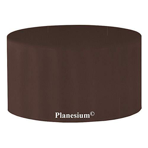 Holi Europe PLANESIUM Premium Table de jardin ronde Housse de protection imperméable respirante et résistante à la déchirure 575 g/m courant ø 120 cm x H 70 cm Marron