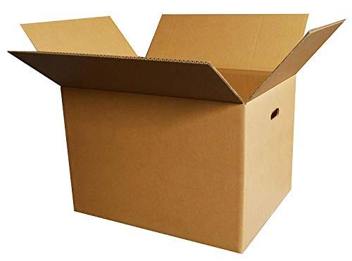 ボックスバンク ダンボール(段ボール箱)120サイズ(取っ手穴付)10枚セット 引越し・配送用 FD05-0010-b (100枚セット【法人 学校 ショップ名記載必須】)